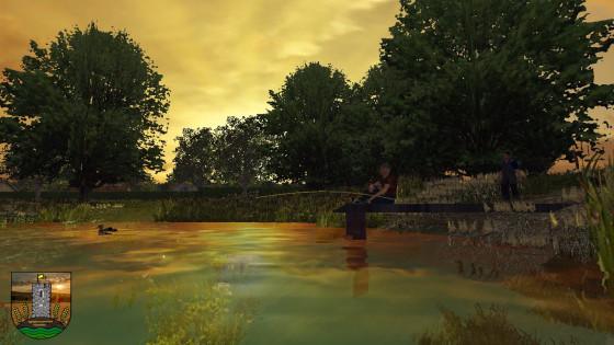 Jetz mit Sven den Sonnenuntergang am See beim angeln genießen. Bier haben wir auch dabei